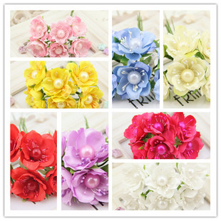 FREE SHIPPING 6pcs Wreath Material Scrapbooking artificial f
