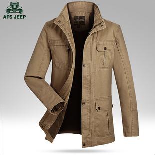 秋季 Afs Jeep/战地吉普薄款男士韩版潮修身男装休闲外套夹克衫