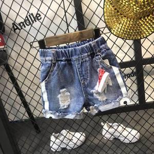 童装夏装2018新款男童短裤<span class=H>可爱</span>卡通儿童破洞牛仔短裤<span class=H>小</span><span class=H>童裤</span>子夏季