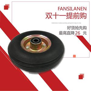 10寸实心轮胎老虎车子实心橡胶轮3.50-4防爆胎防扎实心轮子万向
