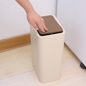 FaSoLa家用<span class=H>垃圾桶</span> 卫生间弹盖式垃圾筒 厨房客厅创意纸篓大号有盖