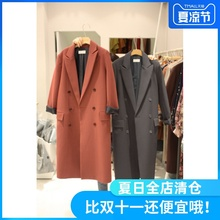 Nethong Spring Festival Clothes British Wind Women's Mid-long suit Korean version of students'leisure loose autumn dress jacket
