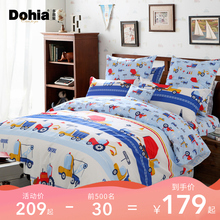 More like home textile cotton four-piece cotton cartoon set three-piece children's bedding sheet card Engineer