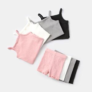 女童套装夏纯棉儿童<span class=H>吊带</span><span class=H>短裤</span>两件套薄款童装潮1-6女宝宝衣服夏装