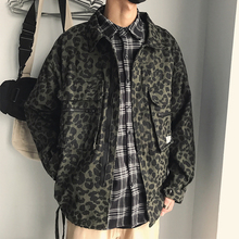 Spring retro Japanese leisure overcoat INS leopard-print jacket chaotic couple Korean CHIC men and women