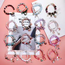 Korean East Gate Fashion Bracelet Beaded Double Candy Bracelet Cute Cartoon Individual Girl Handwear Tide