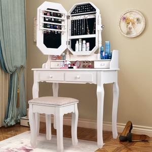 欧式实木<span class=H>梳妆台</span>卧室多功能化妆台化妆桌迷你小户型现代简约化妆柜