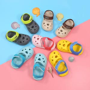 女童宝宝塑料凉鞋1-3岁软底儿童沙滩鞋男童<span class=H>洞洞鞋</span>小童夏防滑包头