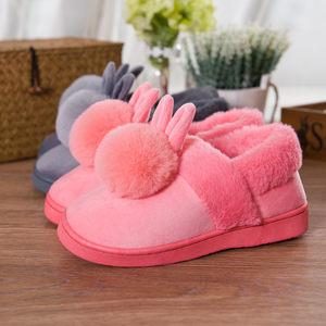 棉<span class=H>拖鞋</span>女全包跟棉鞋男冬季保暖加绒厚底家居家室内可爱月子毛毛鞋