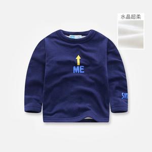 儿童长袖打底衫秋冬款男女童卡通加绒圆领T恤宝宝休闲内搭上衣潮