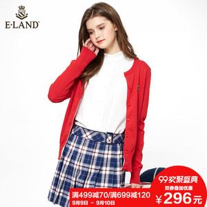 ELAND衣恋春季<span class=H>女装</span>新年学院风针织开衫女EECK81151A