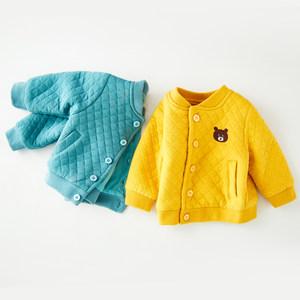 婴儿外套男春秋夹克洋气婴幼儿女加厚小童夹棉上<span class=H>衣</span>秋冬宝宝棒球服