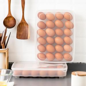日本进口放鸡蛋<span class=H>收纳盒</span>冰箱用收纳厨房保鲜盒鸡蛋盒整理盒的塑料盒