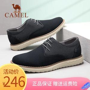 骆驼工装鞋低帮磨砂皮<span class=H>男鞋</span>2019春季新款牛反绒大头皮鞋韩版休闲鞋