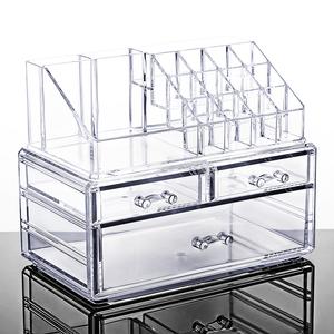 桌面抽屉式亚克力透明化妆品<span class=H>收纳</span><span class=H>盒</span>大号梳妆台塑料护肤整理置物架