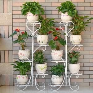 简单经济型落地式庭院置物架室内阶梯式家用放<span class=H>花架</span>子花盆架多层客