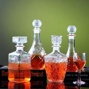 <span class=H>玻璃</span>红酒瓶醒酒器洋酒瓶分酒器葡萄酒空瓶储酒具套装家用<span class=H>密封</span><span class=H>酒壶</span>