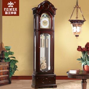 POWER霸王欧式<span class=H>落地钟</span>客厅实木机械立钟中国风复古座钟实木古董钟