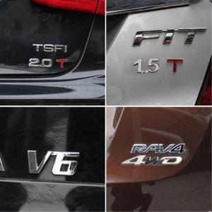 雪铁龙C4L世嘉爱丽舍C5 C6 C3-XR汽车金属排量车标改装饰尾标志贴