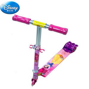 DISNEY/迪士尼公主三轮折叠<span class=H>滑板车</span>铝合金闪光轮儿童踏板车