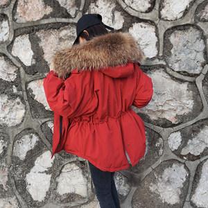 2018冬季新款韩国超大貉子毛领90白鸭绒<span class=H>羽绒服</span>加厚修身显瘦外套潮