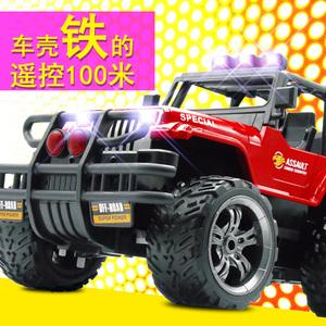 儿童充电动玩具遥控合金小汽车越野吉普牧马人跑车男孩仿真赛车模