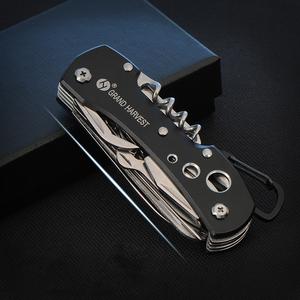 户外随身小刀多功能刀具野外求生高硬度折叠刀防身迷你组合军刀