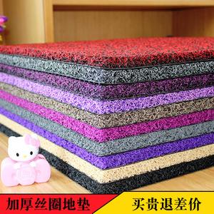加厚丝圈<span class=H>地垫</span>门垫进门门口入户门厅脚垫可裁剪家用PVC地毯定制