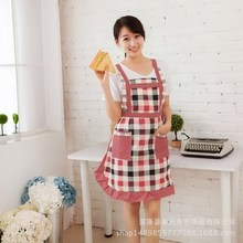 Large-scale cotton-proof sleeveless princess skirt with backstrap Korean Waist Apron for gardening, cooking and housework