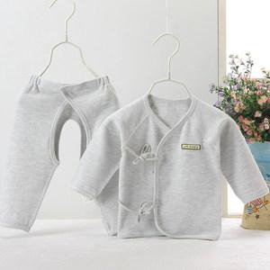 春夏新生儿纯棉内衣0-6个月3婴儿<span class=H>系带</span>无骨<span class=H>和尚</span><span class=H>服</span>套装秋衣裤