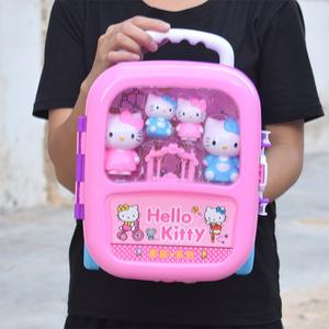 hellokitty凯迪凯蒂kt凯帝凯啼碲猫过家家佩琪<span class=H>旅行箱</span>玩具皮包儿童