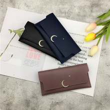 Japanese and Korean Vintage super thin wallet female long style 2019 new personality small fresh multi-functional handbag with buckled pocket purse