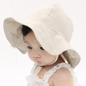 韩国进口婴儿遮阳帽大檐防嗮帽夏天男女宝宝儿童渔夫帽沙滩帽透气