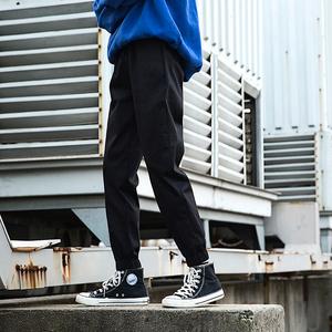 迷彩国潮ins运动瘦腿束脚长裤工装裤