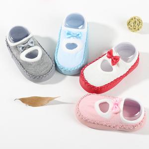 婴儿学步鞋袜春秋季薄款软底袜套宝宝鞋袜0-3岁月防滑儿童地板袜
