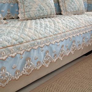 四季通用欧式沙发垫亚麻布艺防滑<span class=H>坐垫子</span>贵妃全包时尚沙发套罩全盖