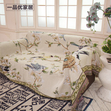 Modern American-style cotton-linen sofa cushion, full-cover skid-proof knitted sofa cover, sofa release, thickening sofa linen blanket