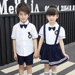 小学生校服夏天幼儿园班服学院风统一短袖短裤男童运动套装女童潮