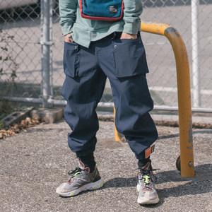 CKOO FLOAT <span class=H>裤子</span><span class=H>男</span>嘻哈<span class=H>欧美</span><span class=H>街头</span>潮流宽松束脚裤收口ulzzang工装裤