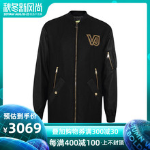 Versace/Versace Fabric Overcoat Long Leisure Men's Wear Stitching Overcoat Chao Men's Imported Thickened Cotton Clothes