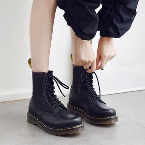 <span class=H>马丁靴</span>女英伦风平底真皮短靴夏季内增高学生厚底透气薄款机车单鞋