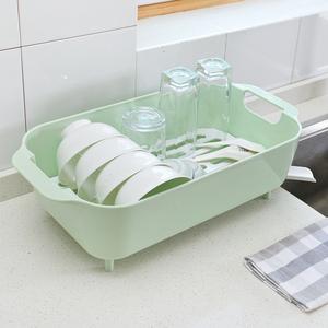 双庆厨房<span class=H>用品</span>碗盘收纳架塑料沥水架碗篮架碗筐碗碟水槽果蔬沥水架