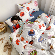 INS Cute Cartoon Sesame Street Four Cotton Cotton Bedding Kids Three Boys and Girls