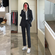 Spring and Summer Thin Korean OL Professional Suit Fashionable Temperament, Self-cultivation Suit, Interview Workwear, Small Suit Suit for Women