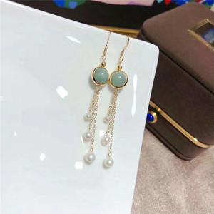 山下湖 18K注金珍珠耳环天然淡水珍珠3-6毫米翡翠时尚珍珠耳钩