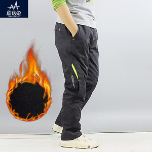 男童<span class=H>冲锋裤</span>加肥加大2017新款12-15岁中大童儿童户外加厚保暖长裤