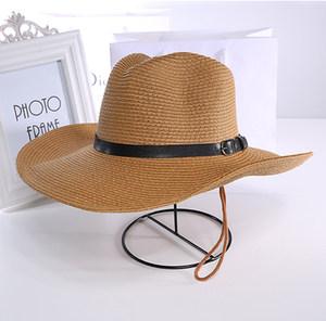 可折叠情侣款沙滩帽<span class=H>草帽</span>牛仔钓鱼帽<span class=H>大沿</span>帽<span class=H>夏天</span>遮阳帽子男士礼帽