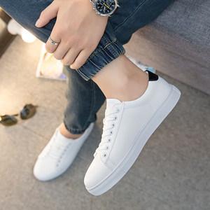2018新款小白鞋<span class=H>男</span>透气白色鞋运动休闲<span class=H>板鞋</span>韩版学生鞋百搭白鞋<span class=H>男</span>潮