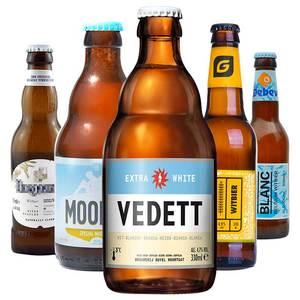 全球小麦白啤精酿<span class=H>啤酒</span> 比利时进口小麦白啤白熊 魔妃 勃朗白 豪登