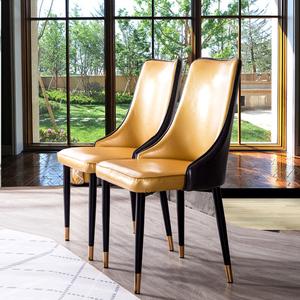 北欧<span class=H>餐椅</span>家用ins网红ins餐桌椅轻奢现代简约铁艺欧式酒店靠背椅子
